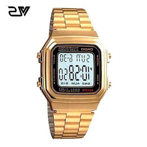 《ลดล้างสต๊อก》Casio นาฬิกาผู้หญิง สีทอง สายสแตนเลส รุ่น A178WGA-1ADF