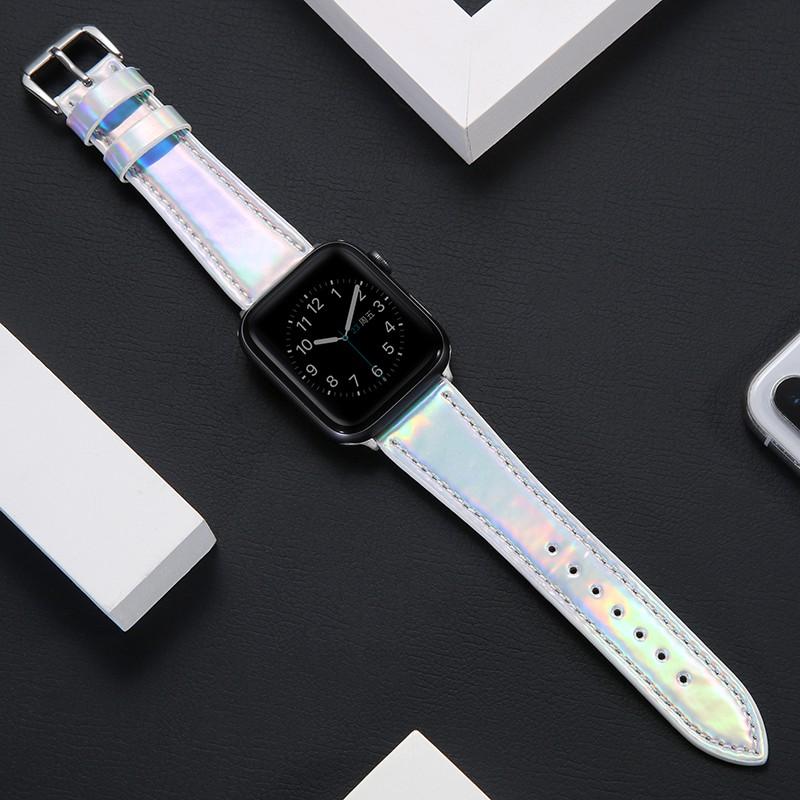 applewatch สายบังคับapple watch5สายรัด Apple Watch BANDiwatch1/2/3/4รุ่นหนังนุ่มหนัง38/42mmหญิงชายiphone series5รุ่นน้ำใ