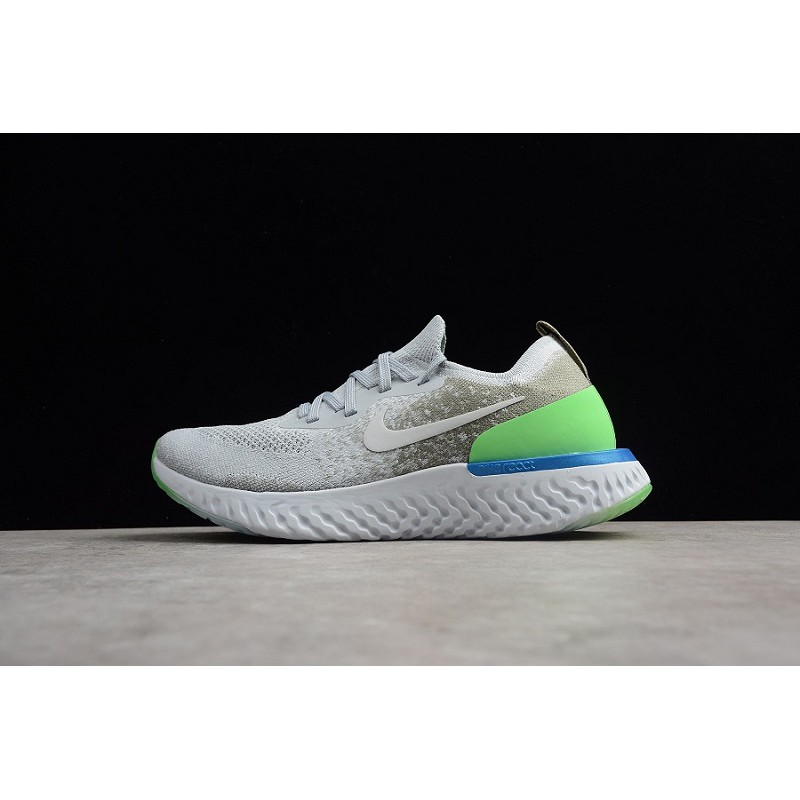 ff1b9ee2ee68 Original Nike Epic React Flyknit Men s Running Shoes Non-slip Breathable  Sports Shoes Women s Sneakers Grey AQ0070-002