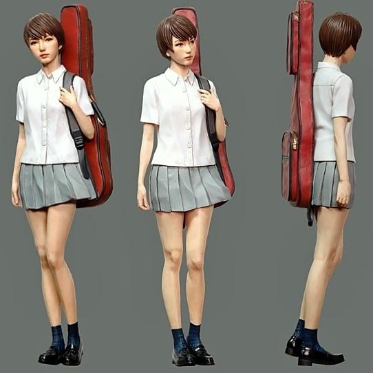 Resin Figure Kit 1/20 Girl in the springtime of life Garage Resin Kit