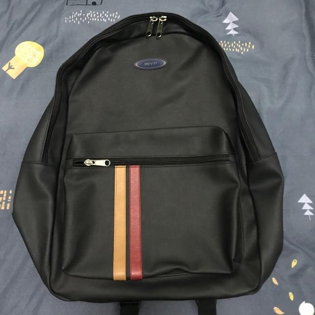 กระเป๋าเป้ สะพาย DEVY หนังสีดำ ของแท้100%