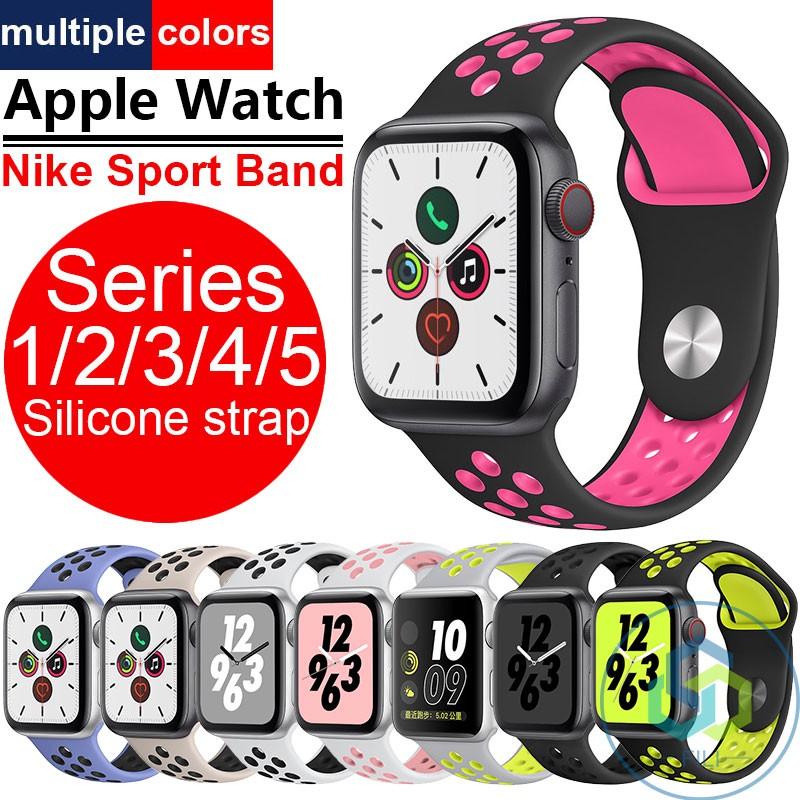 สายรัดข้อมือ Apple watch5 Nike Sport Band Series 1 / 2 / 3 / 4 / 5 สาย