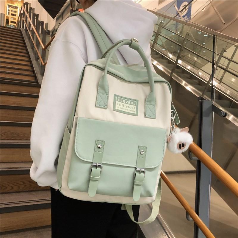 บูติกไหล่2020ใหม่15.6นิ้วเดินทางกระเป๋าความจุขนาดใหญ่หญิงสามารถถือกระเป๋าคอมพิวเตอร์14นักศึกษามหาวิทยาลัยกระเป๋าเป้สะพาย