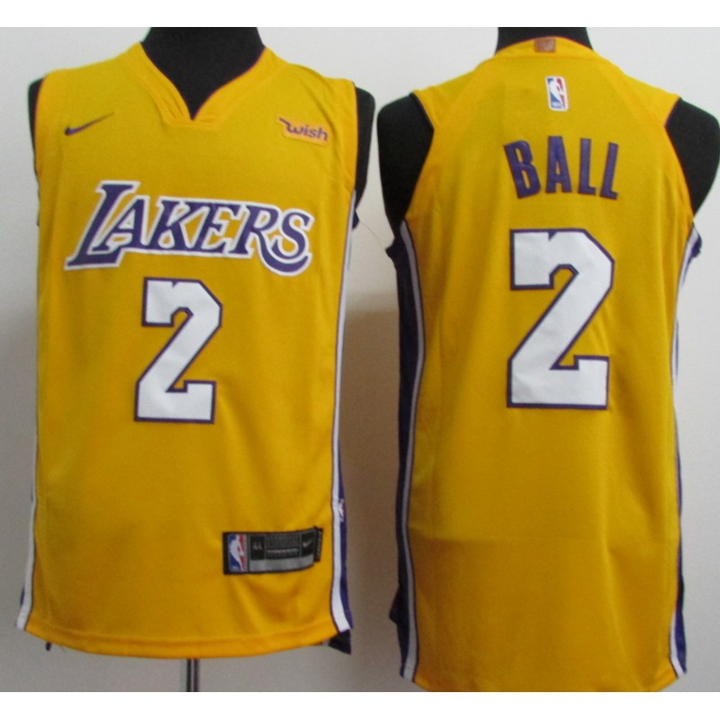 huge selection of c3383 e7ade Balos Angeles Lakers lonzo Ball NBA COD Jersey # 2 sell Well