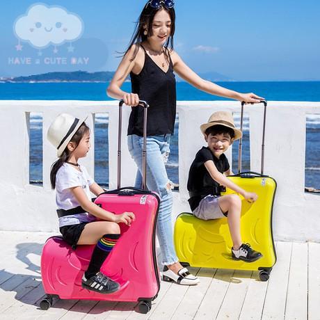กระเป๋าเดินทางเด็กขาไถ กระเป๋าเดินทางนั่งได้ กระเป๋าเดินทางเด็ก