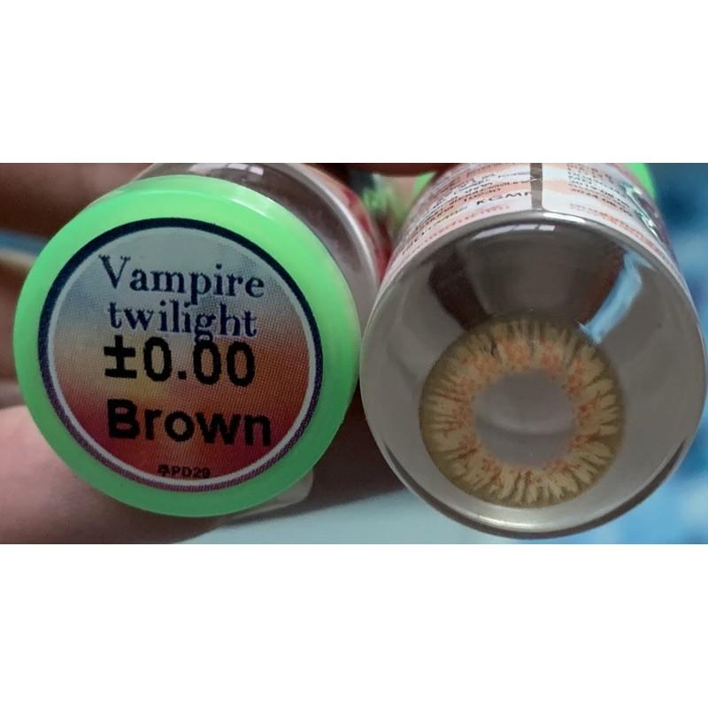 คอนแทคเลนส์ Pretty Doll Vampire twilight Brown