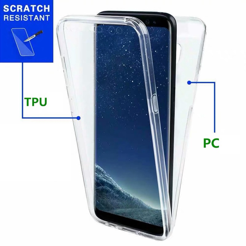 Case Samsung Galaxy A31 M31 A01 A51 A71 A41 S20 Ultra S20 Plus S10 Lite Note 10 Lite A20S A10S M40S A80 A50 A30 A20 A10 M10 M20 M30 Note 10 Plus Note 9 Note 8 S10 Plus S9 Plus S8 Plus S7 Edge A6 Plus A8 Plus J7 Pro A7 2018 360 Full Protective Case Cover