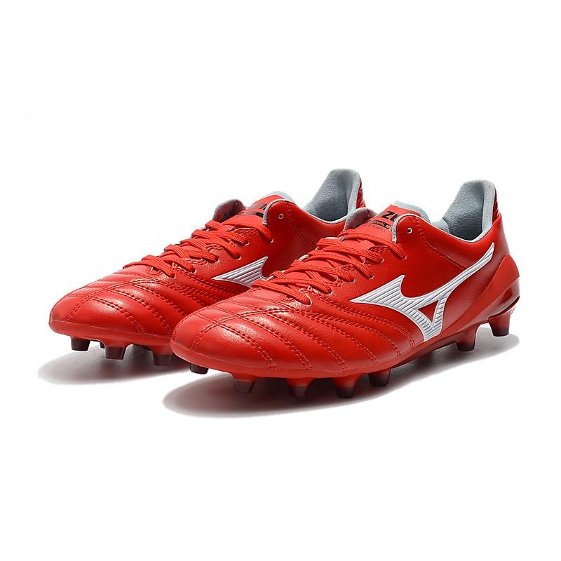 ใหม่◎ MIZUNO Mizuno MORELIANEO2FG Nissan FG Red รองเท้าฟุตบอล Mizuno Morelia Neo II Made in Japan   รองเท้าฟุตซอลหุ้มข้อ