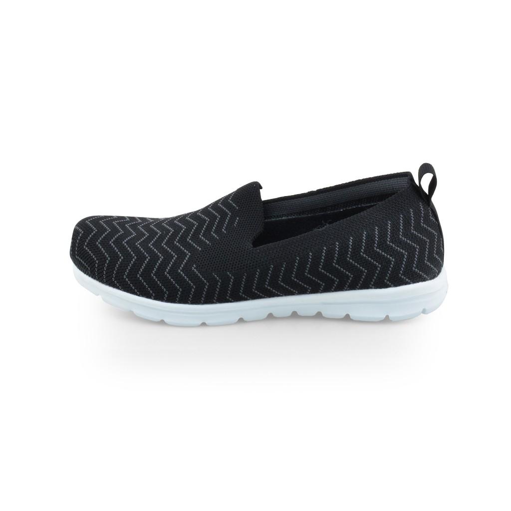 รองเท้าคัชชู เพื่อสุขภาพ แบบลำลอง หัวมน ส้นแบน พื้นเมมโมรี่โฟม POLO CLUB P1852 สีดำ