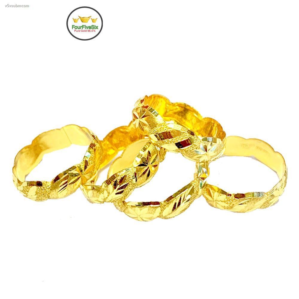ราคาต่ำสุด♙✺FFS แหวนทองครึ่งสลึง GP หนัก 1.9 กรัม ทองคำแท้96.5%