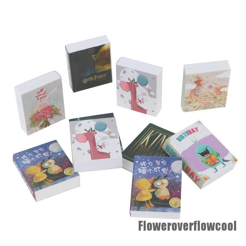 Fcth 3Pcs 1/12 Dollhouse Miniature Fairy Tale Books Doll House Accessories Decor