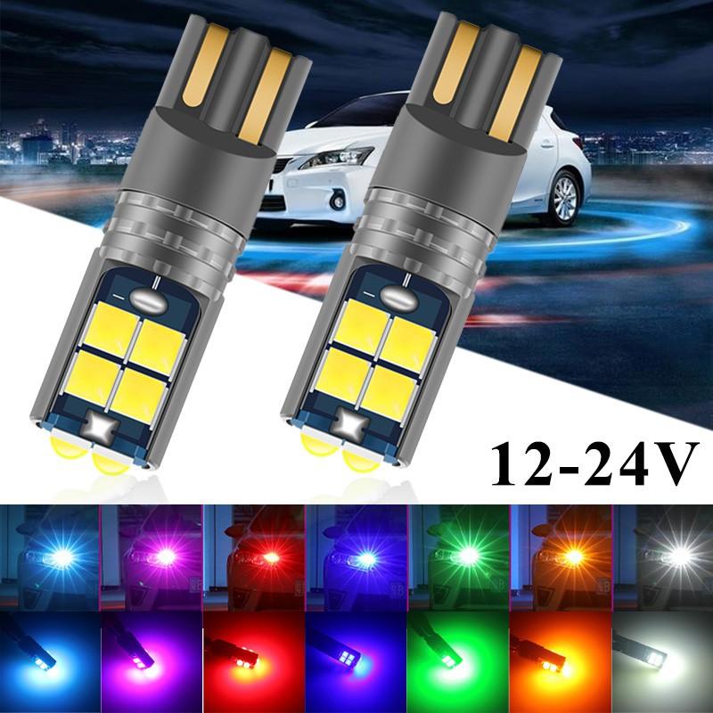 1PCS รถยนต์ T10 LED Canbus W5W 3030 10SMD 12V-24V 194 168 อัตโนมัติ LED รถยนต์ภายในแผงโคมไฟโดมอ่านหนังสือโคมไฟช่องว่าง 10W