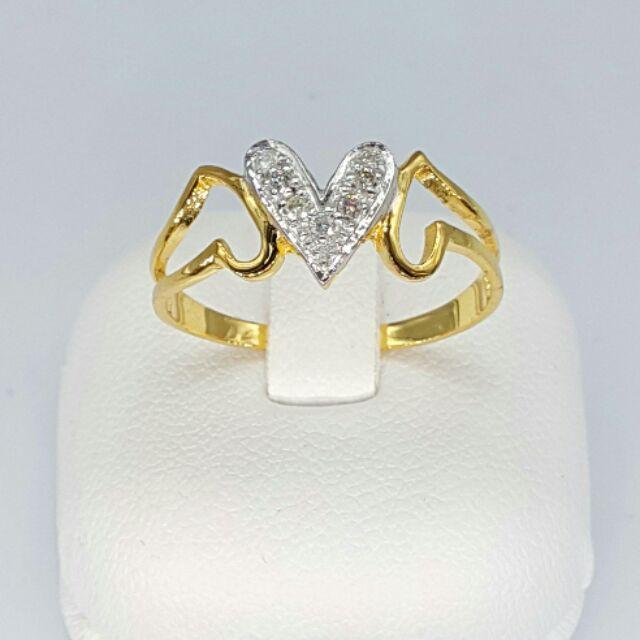 แหวนทองคำแท้เพชรแท้เกสร ราคาส่ง