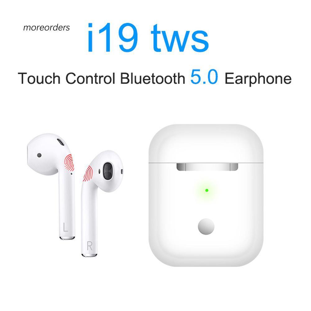 MROD i19 Binaural TWS HD Call Auto Connect Touch Control Bluetooth 5 0  Earphones Ear Buds