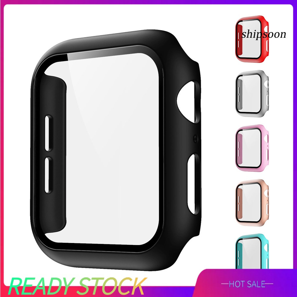 ssn- Glass Case for Apple Watch Series S6 SE 40mm Scratch Resistant Screen Protector