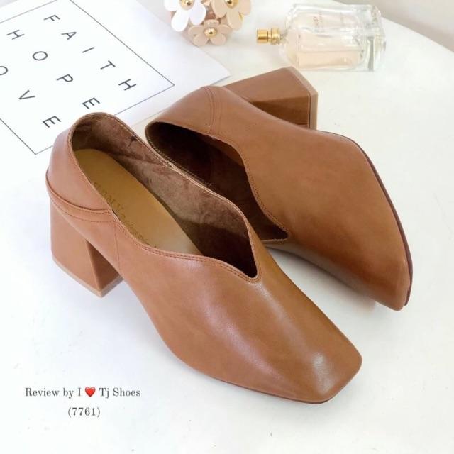 รองเท้าคัชชูเกาหลี (ดำ/ส้มอิฐ/แทน)😍
