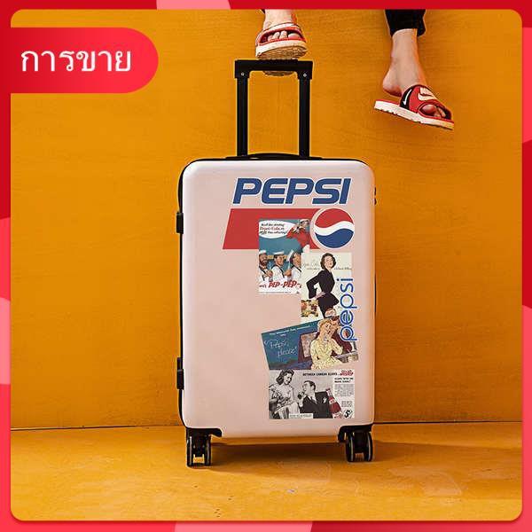 กระเป๋าเดินทางสุทธิสีแดงใหม่รถเข็นขนาดเล็ก 20 กระเป๋าเดินทางหนังกราฟฟิตีน่ารักหญิง 24 นิ้วนักเรียนชาย