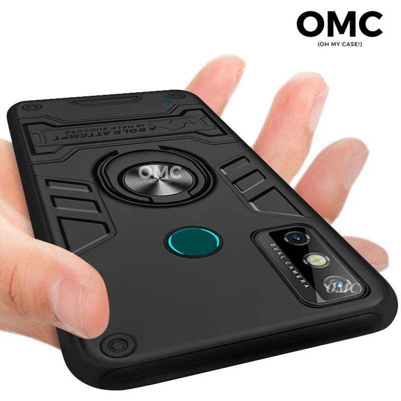 For Tecno Spark 6 Go Case Shockproof Ring Stand Holder Dual Layer Armor Protective Phone Back Casing