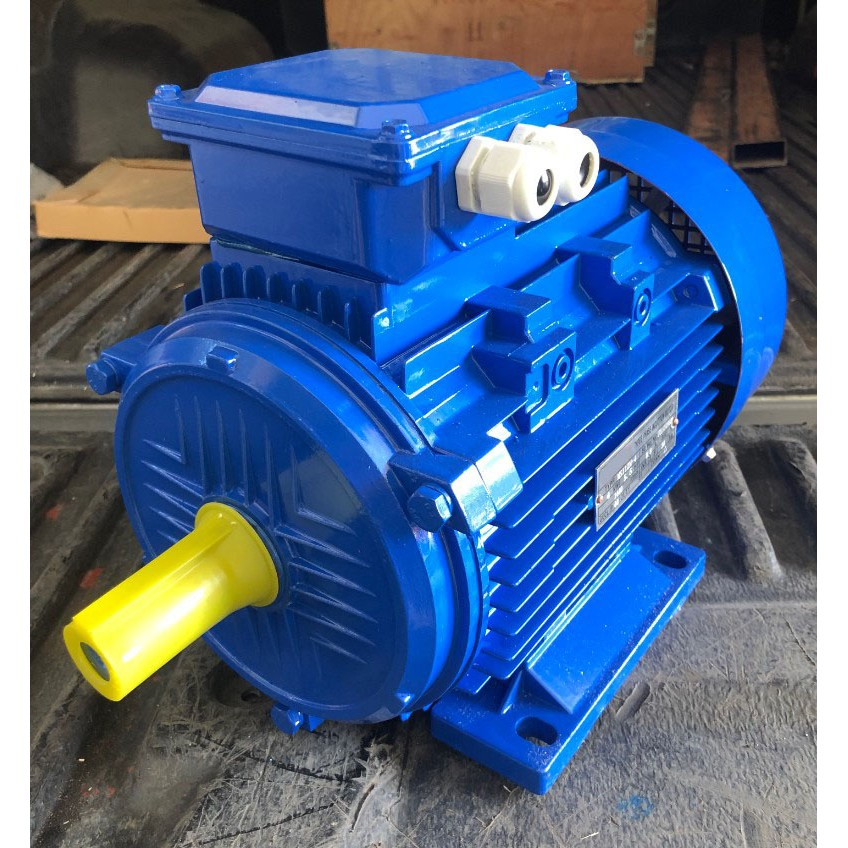 มอเตอร์ไฟฟ้า 5.5 แรงม้า 4 KW 380V Three Phase Induction Motor ยี่ห้อ XYLON รุ่น MS112M-4