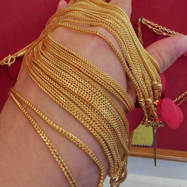   สร้อยคอทอง 96.5%  น้ำหนัก 1 บาท ยาว 22.5-32cm ราคา 28,950บาท