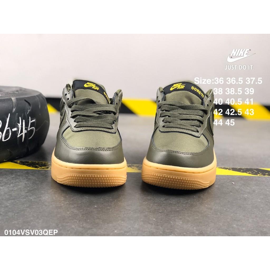 Nike AirForce1LowGore-Tex CK2630-100 รองเท้าผ้าใบรองเท้าวิ่งช่วยเหลือสูงช่วยเหลือต่ำคู่รองเท้าแฟชั่นของแท้