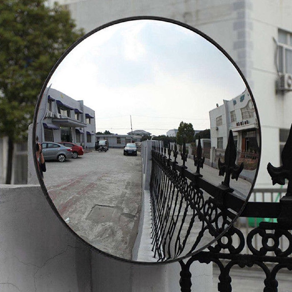 24Outdoor Road Traffic Convex PC Mirror Safety /& Security Wide Angle Driveway