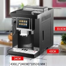 เครื่องทำกาแฟอัตโนมัติ CLT-Q007 อุ่นแก้วได้ หน้าจอสัมผัสอัจฉริยะ Barista กาแฟอัตโนมัติ