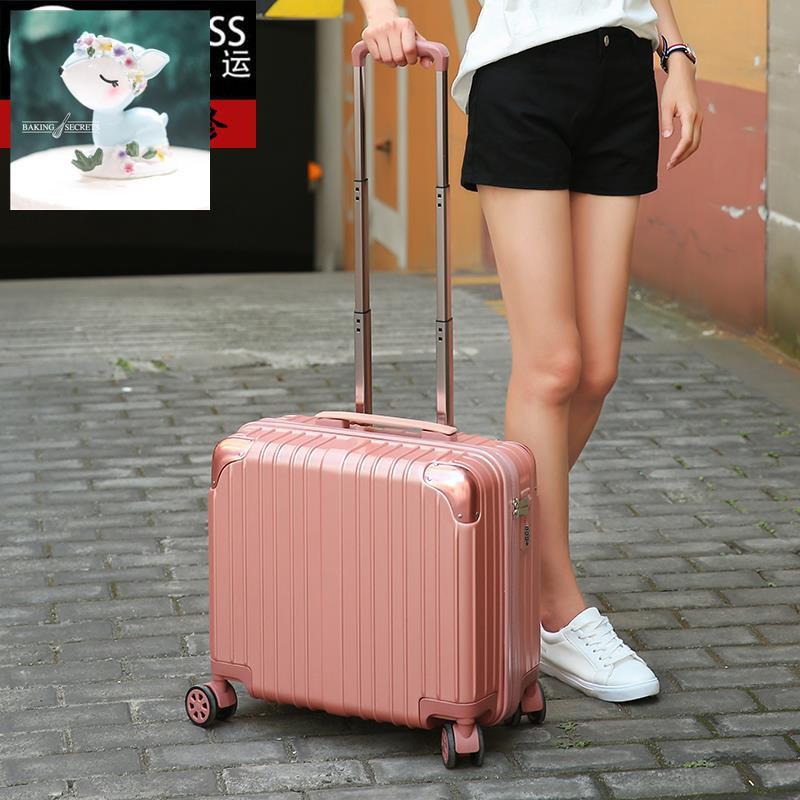 กระเป๋าเดินทางใบเล็กหญิงกระเป๋าเดินทางขนาดเล็ก 16 นิ้วน่ารักกล่องรหัสผ่านน้ำหนักเบาพิเศษ 18 นิ้วกระเป๋าล้อลากเอนกประสงค