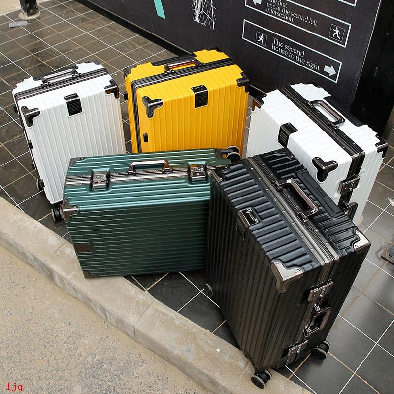 กระเป๋าเดินทางแบบมีล้อเลื่อนอลูมิเนียม 24 นิ้ว 26 นิ้ว