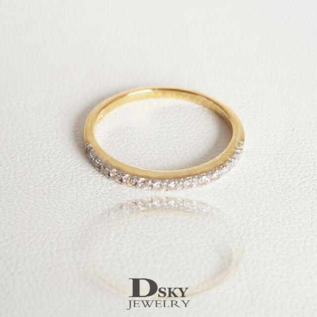 แหวนเงินแท้925 แหวนทอง สไตล์มินิมอล(Minimal) แหวนแฟชั่น ราคาถูก ฝังเพชรcubic zirconia ชุบทอง18k