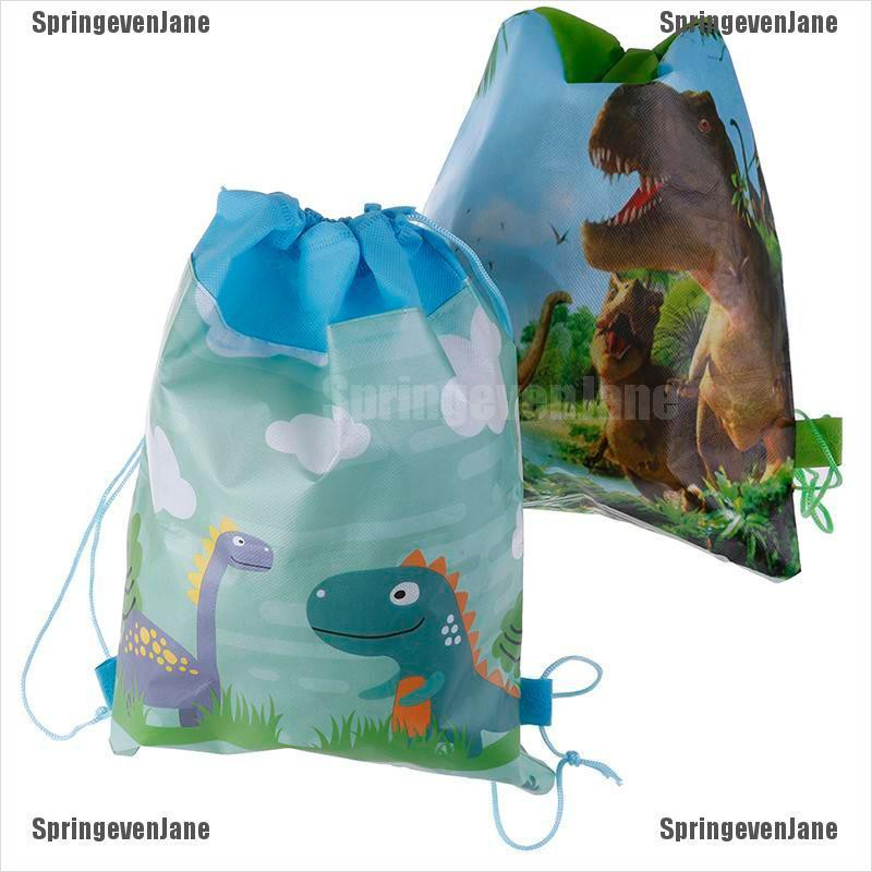 ( Springevenjane ) กระเป๋าเป้สะพายหลังลายไดโนเสาร์เหมาะกับการพกพาเดินทาง