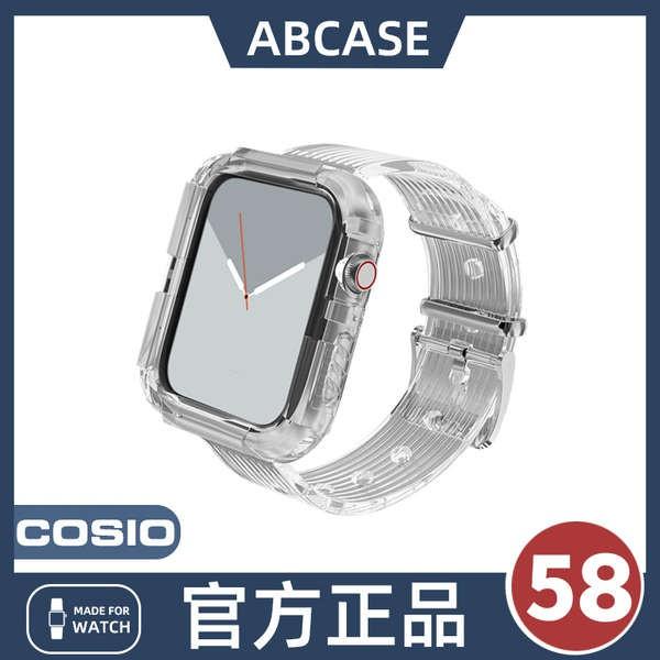 สาย applewatch [Glacier Limited Edition] ABCASE เหมาะสำหรับ iwatch สายโปร่งใส applewatch6 / 5 สาย Apple watch SE 4/3/2/1