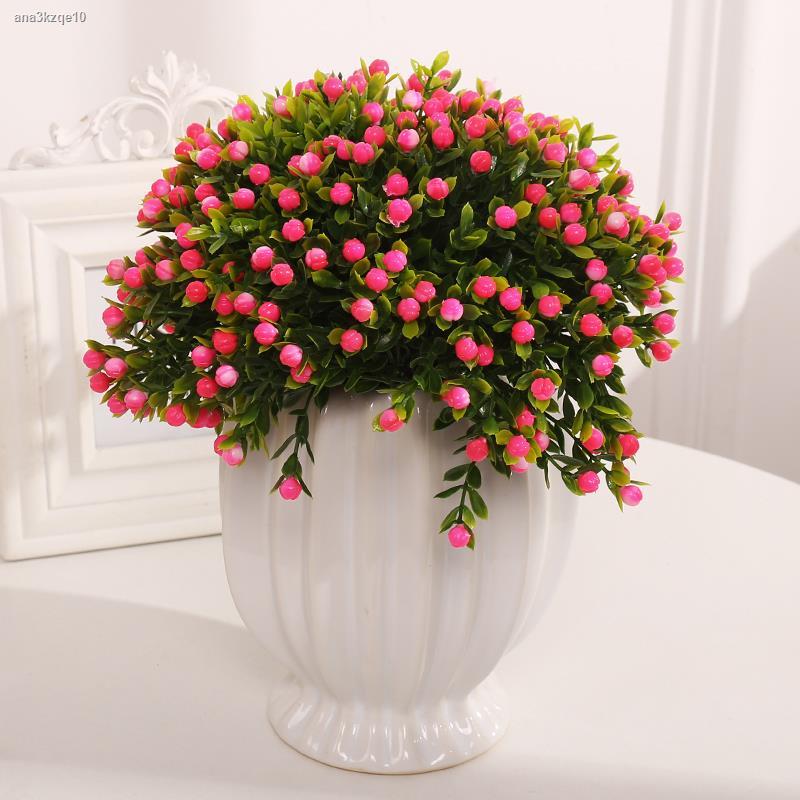 การจำลองพันธุ์ไม้อวบน้ำﺴ♧☎เลียนแบบดอกไม้ปลอมและเครื่องประดับต้นไม้ ตกแต่งดอกไม้พลาสติก ช่อดอกไม้แห้ง ชุดกระถางต้นไม้เล็ก