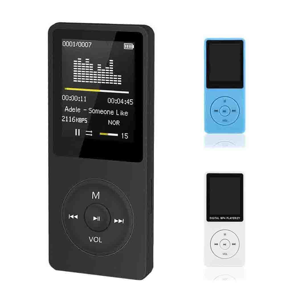 "New Ultra-thin MP4 Music Player Slim 80hours Play 1.8/"" Screen//FM//E-Book White BA"