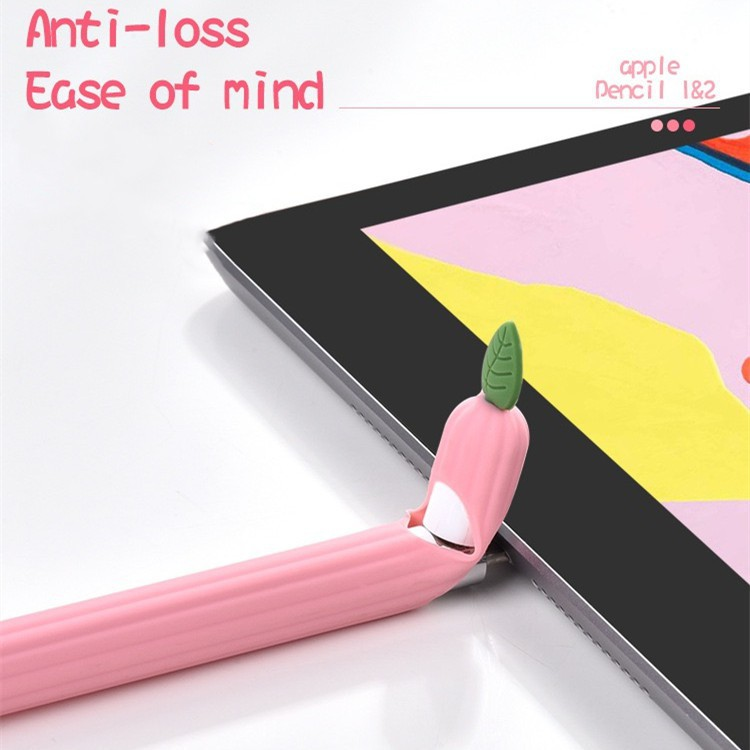 🌻💋📣♈พร้อมส่งจากไทย!เคสApple Pencil1& 2 Case เคสปากกาซิลิโคน ดินสอ ปลอกปากกาซิลิโคน เคสปากกา6สี