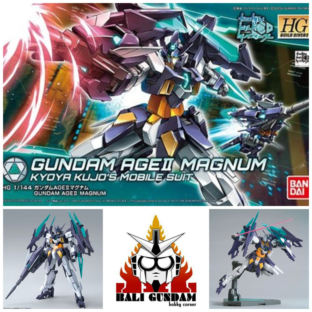 Hg 1 / 144 Gundam Age-2 Magnum Age-iimg Agent ของเล่นสําหรับเด็ก