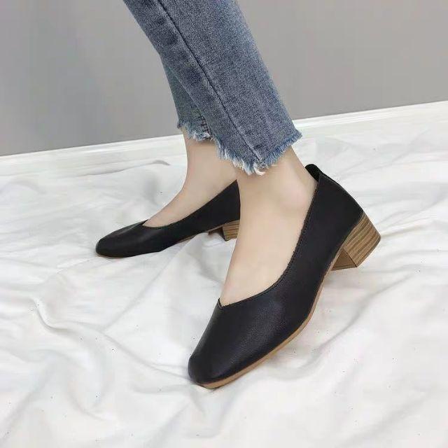 รองเท้าคัทชู หนังนิ่มใส่สบาย 3 สี พร้อมส่งh3.