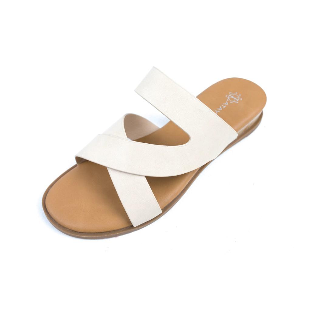 ATAYNA Lady รองเท้าแตะสตรี มี 2 สี รุ่น AS0116 สีเบจ