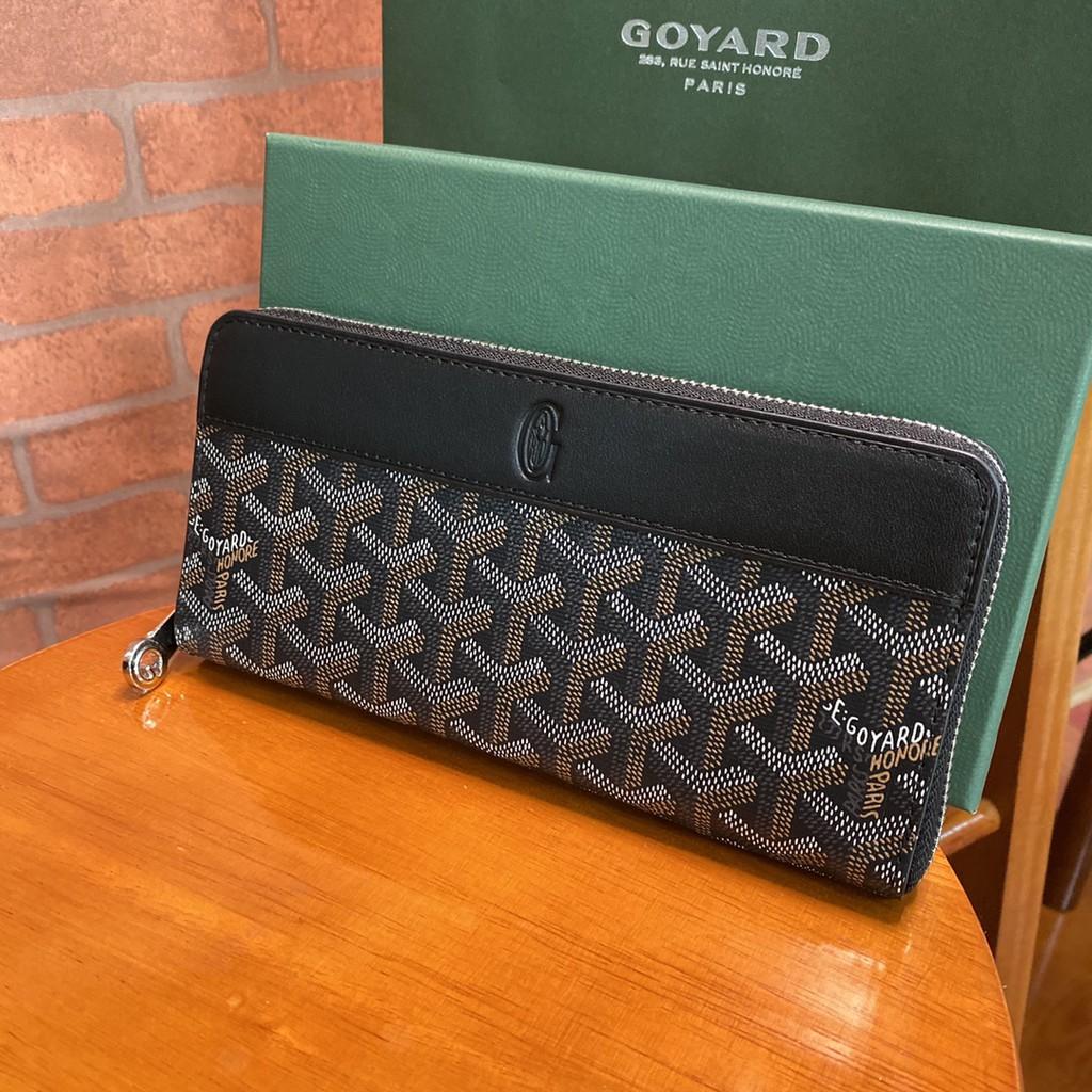 Goyard wallet คลัทช์กระเป๋าบัตรกระเป๋าสตางค์ หนังแท้แบรนด์เนน Size:20*9cm