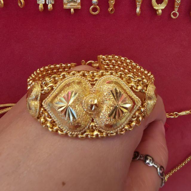 สร้อยมือทอง 96.5%  น้ำหนัก 2 บาท ยาว 18cm ราคา57,500บาท