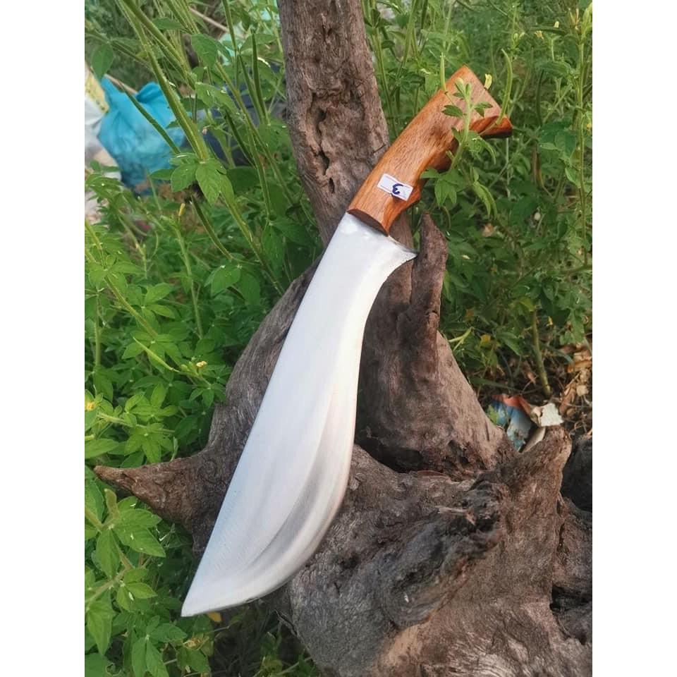 มีดพก มีดเดินป่า เหล็กแหนบแท้ ตีร้อนชุบคม ใบมีดยาว 9.6 นิ้ว