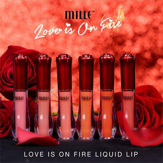 Is On Lip เนื้อแมตท์ Liquid Love ลิปจุ่ม Fire Mille