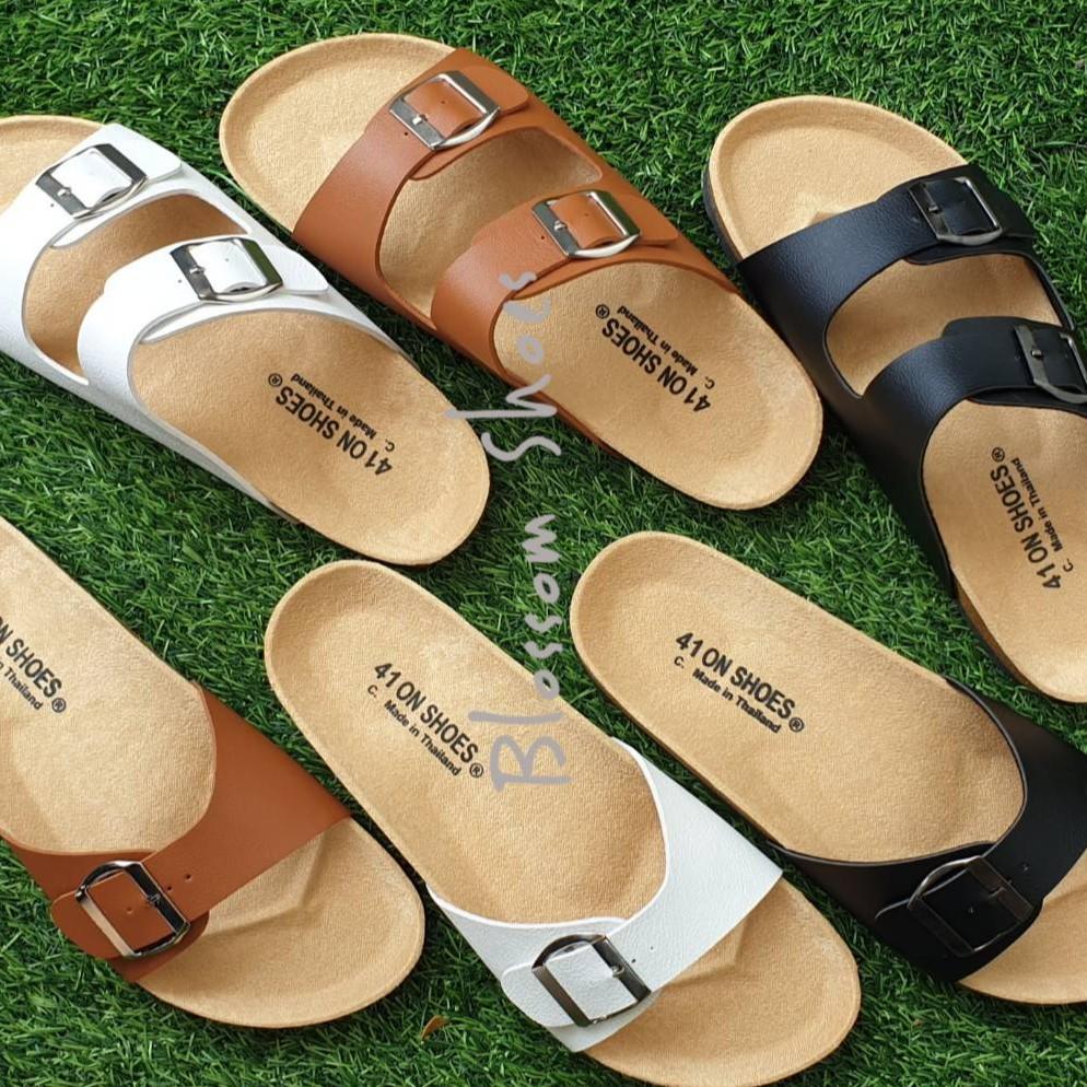 ไซส์ใหญ่ 41-43 รองเท้าแตะ ฺBikenStock 1Step /2step  สายปรับระดับได้ ZuVO