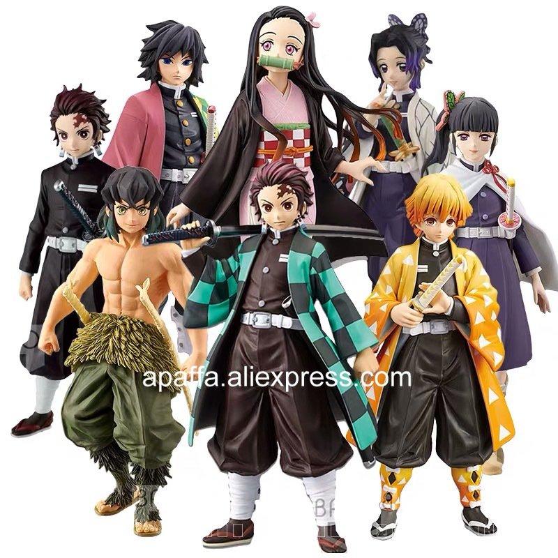 20รูปแบบDemon SlayerรูปKochou ShinobuรูปKimetsuไม่มีYaiba Kamado Tanjirou Action Figure Agatsuma Zenitsuรูป