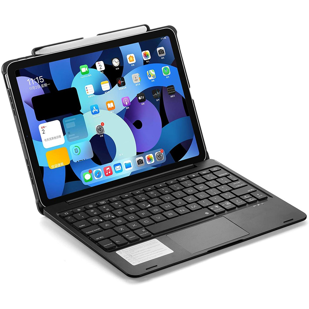 iPad Pro 11 case 2021(3rd Gen) Keyboard Case with Backlits Bluetooth Trackpad Keyboard and Pencil Holder Support 2nd Gen Apple Pencil Charging Flip Smart Cover for iPad Air 4 & iPad Pro 11 inch 2021/ 2020/ 2018(without iPad and Pencil)