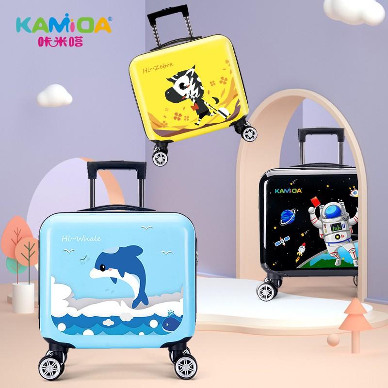 πぎกระเป๋าเดินทางเด็ก  กระเป๋ารถเข็นเดินทางKamida เด็กรถเข็นกระเป๋าเดินทางการ์ตูนหญิงสากลล้อเด็กกระเป๋าเดินทางเด็กผู้หญิง