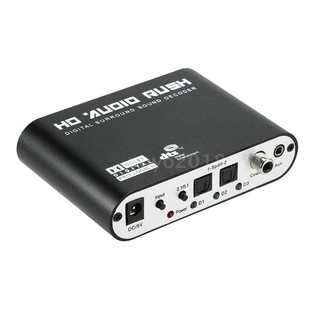 5.1 Audio Rush SPDIF Coaxial to 5.1/2.1 Channel DTS/AC-3 Audio Decoder Surround Sound Rush for STB DVD Player HD Player
