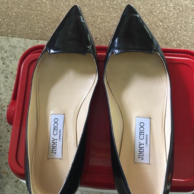 รองเท้าคัชชูส้นเตี้ย JIMMY CHOO แท้ 💯%(มือสอง)