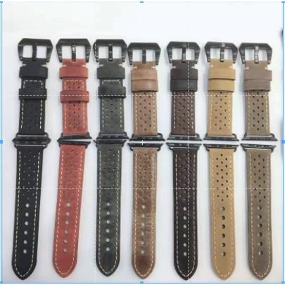 fashion Explosion apple watch strap สายหนังวัว iwatch series SE 6 5 4 3 2 1 สาย applewatch 38 40 42 44mm