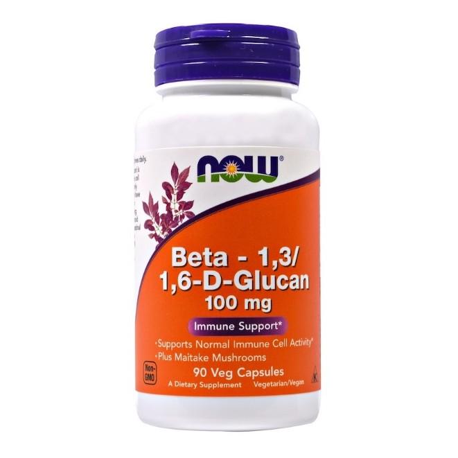 เบต้า-กูลแคน Now Foods, Beta-1,3/1,6-D-Glucan, 100 mg, 90 Veggie Caps